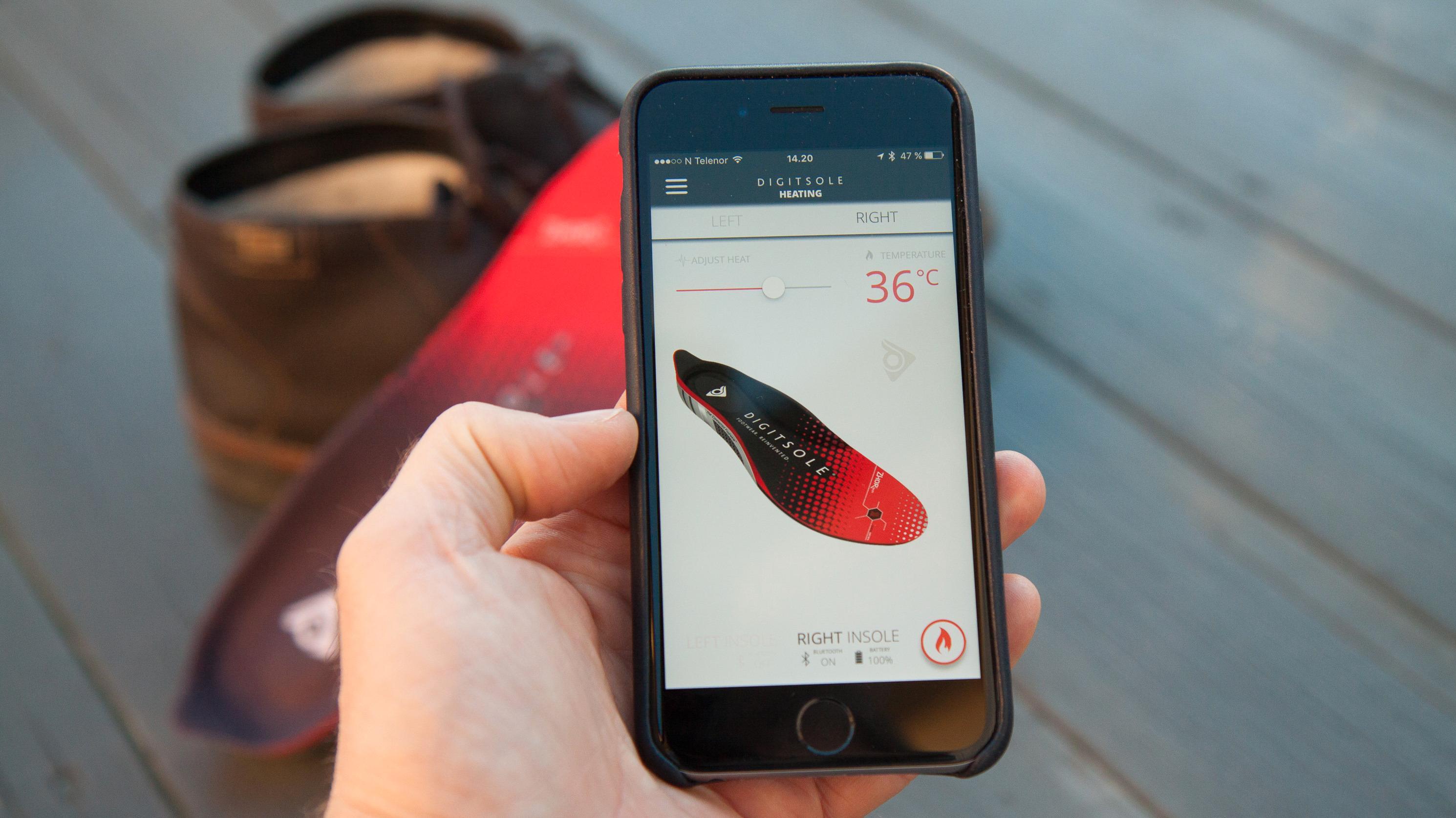 Disse skosålene har sin egen app