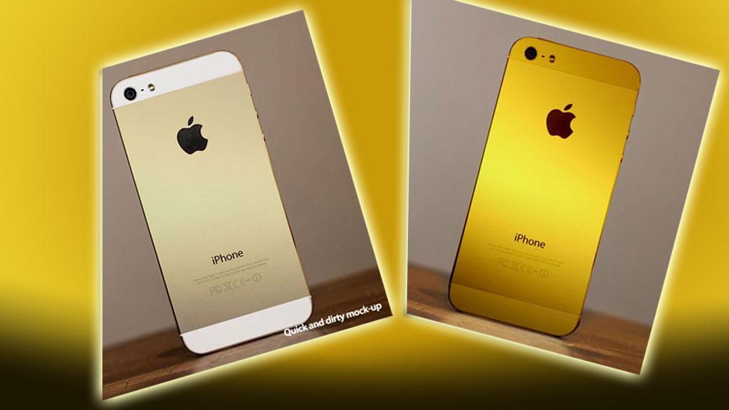 Slik kan en gull-iPhone komme til å se ut, ifølge iMore. Foto: iMore/montasje