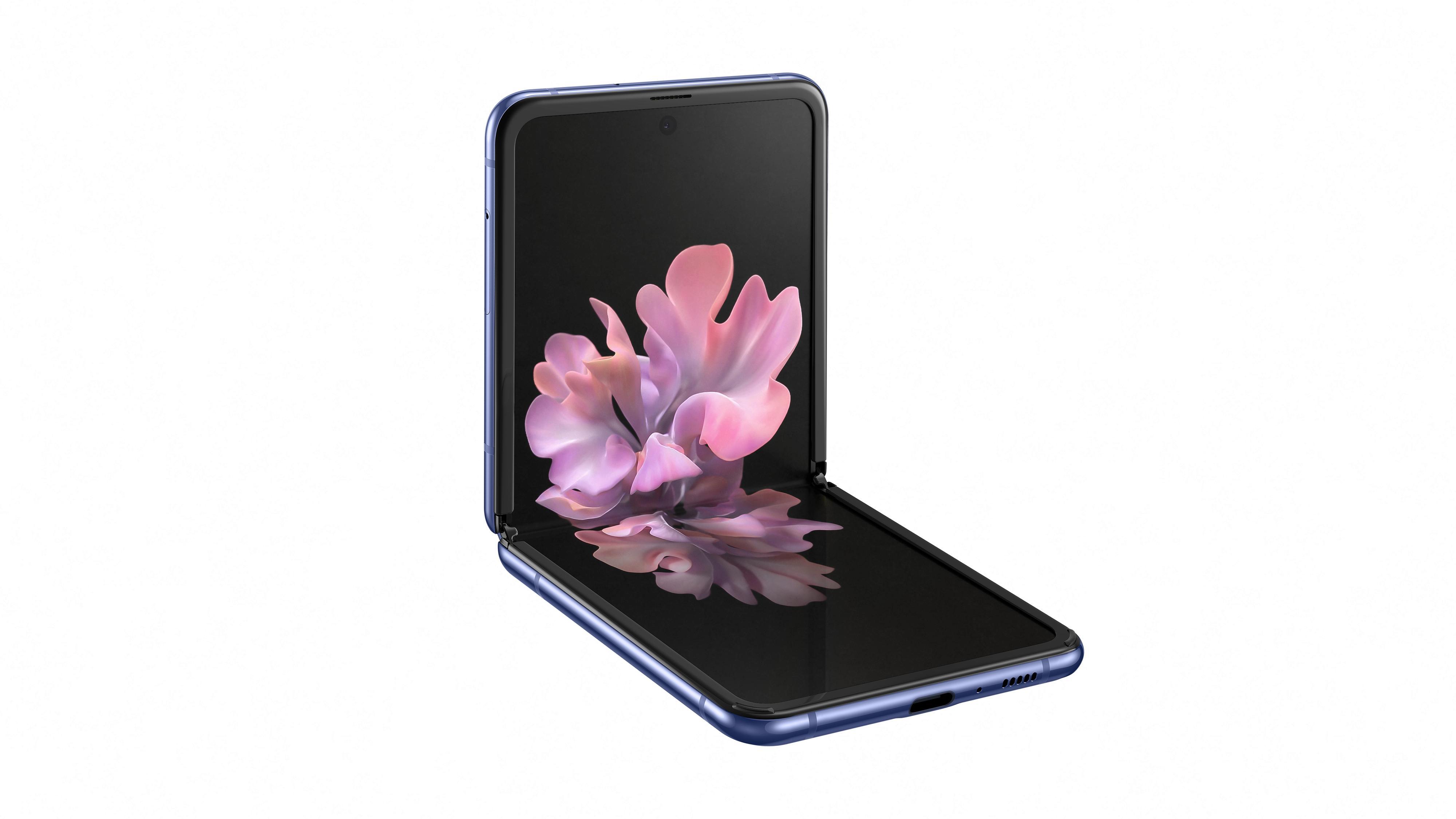 Galaxy Z Flip er første brettemobil av glass