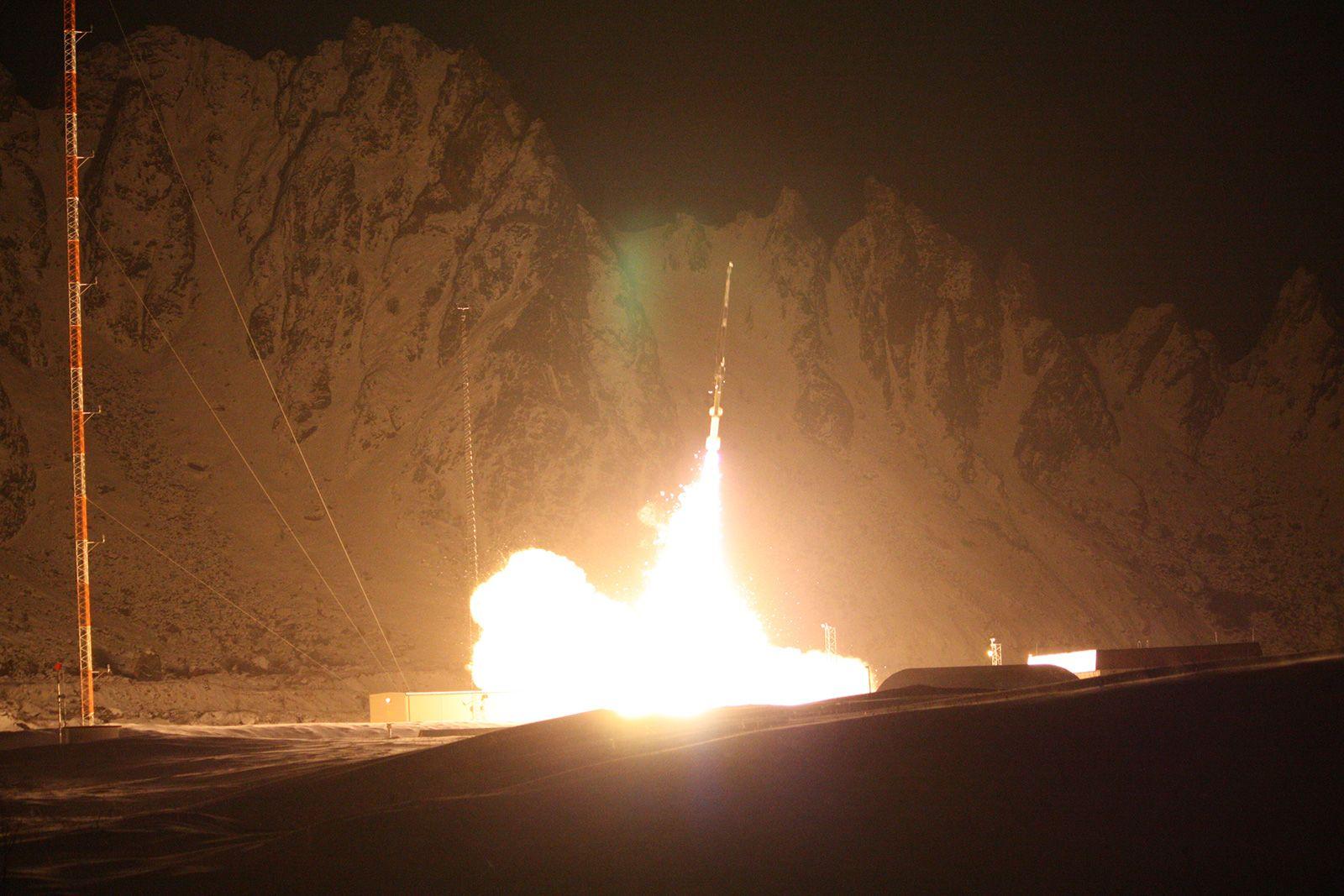 Denne NASA-raketten ble skutt opp fra Andøya Rakettskytefelt i desember 2010.