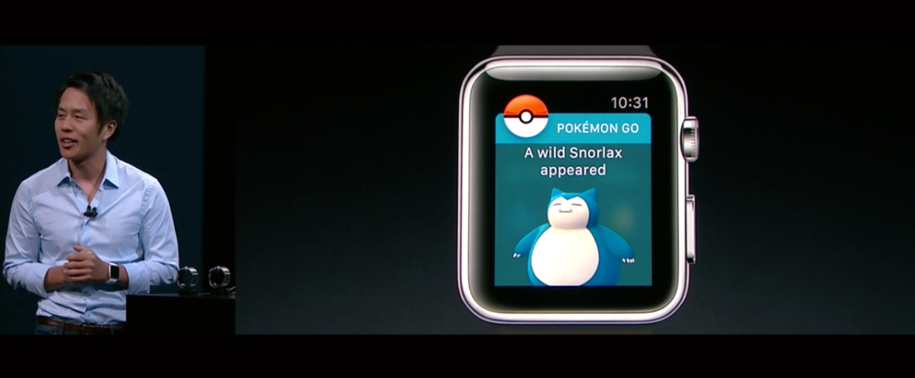 Pokémon GO på klokka!