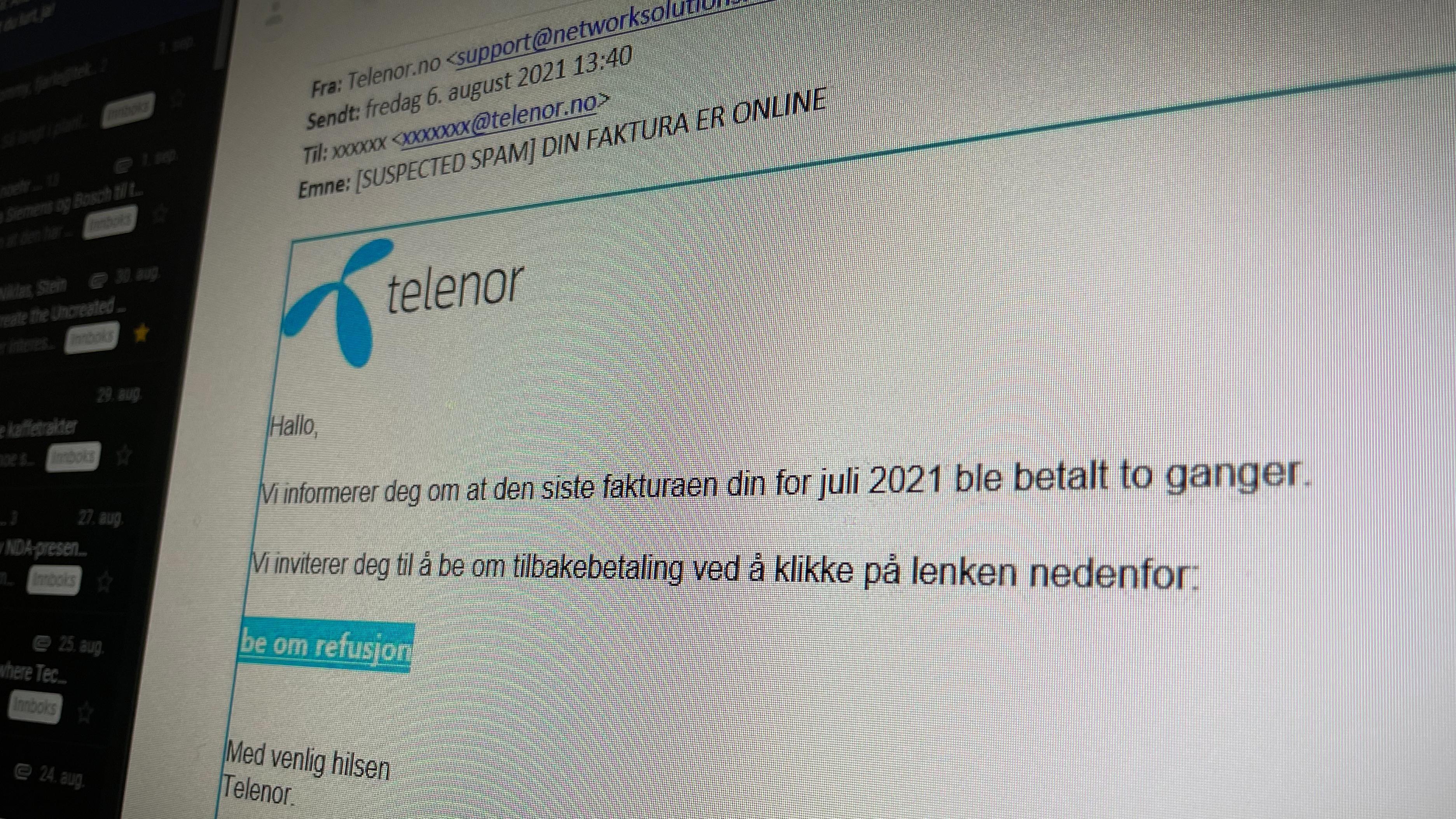 Får du slike e-poster fra Telenor for tiden er du ikke alene.