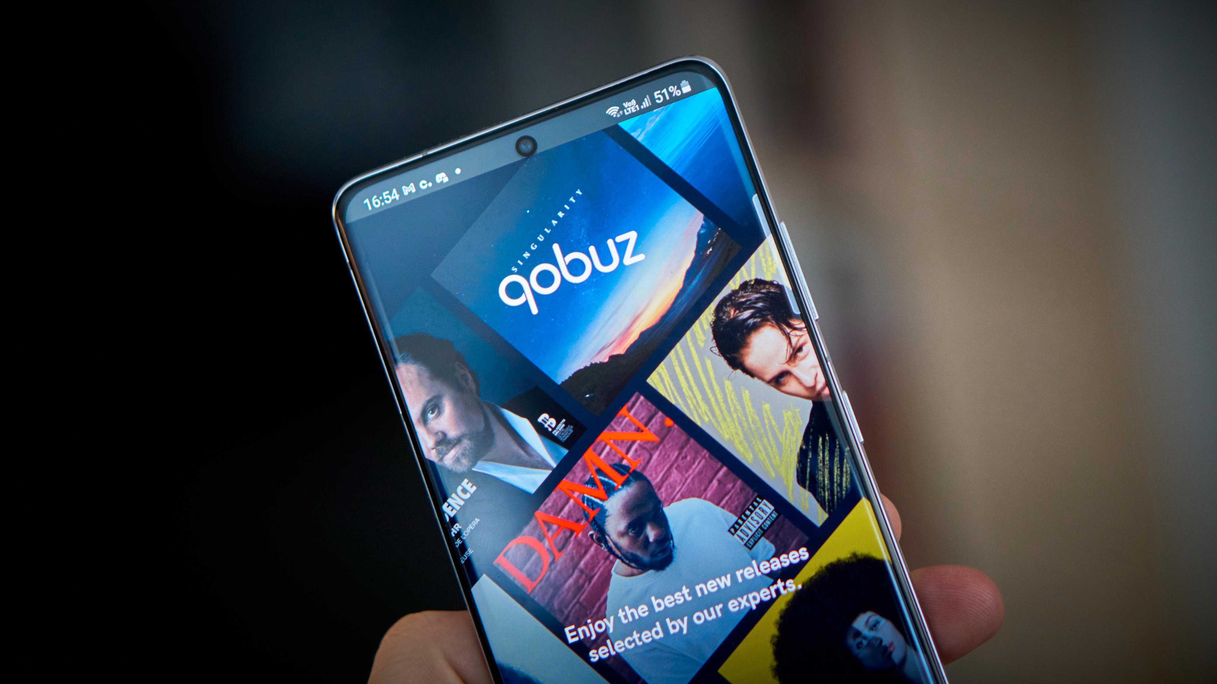 Qobuz er en ny strømmetjeneste på det norske markedet. Her Android-appen.