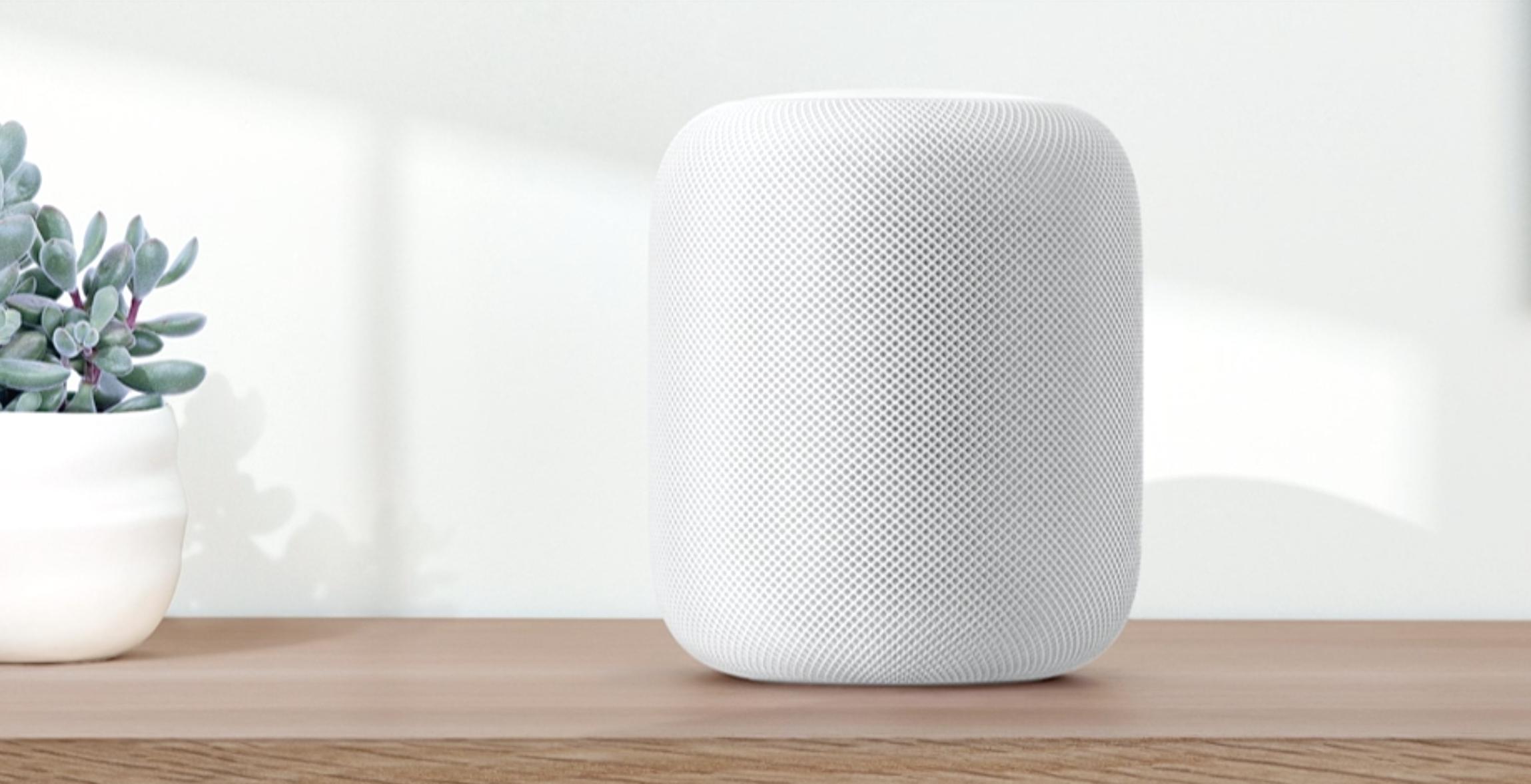 Det begynner å bli folksomt på smarthøyttaler-markedet. Dette er det foreløpig seneste bidraget, Apples HomePod..