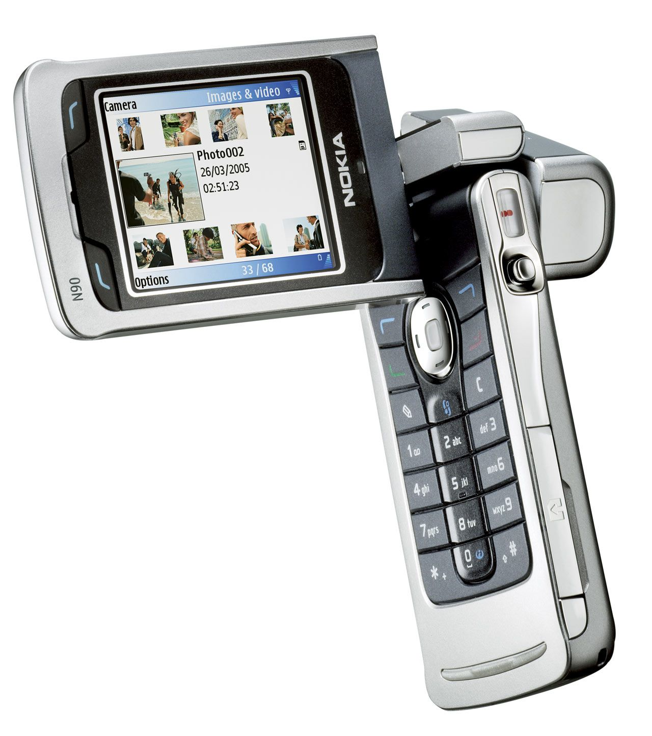 Nokia N90 satte standarden for kameramobiler. Den kom med 3 ganger optisk zoom.