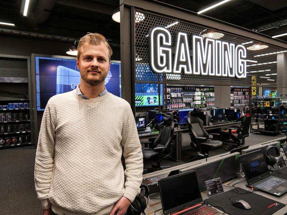 Nils Martin Øyo, gamingansvarlig i Elkjøp Norge.
