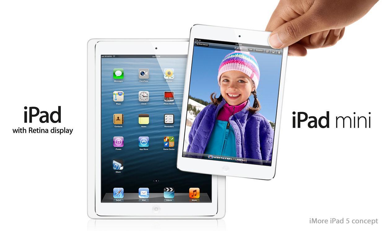 Slik kan den nye iPad mini og iPad 5 komme til å se ut, ifølge iMore.Foto: iMore