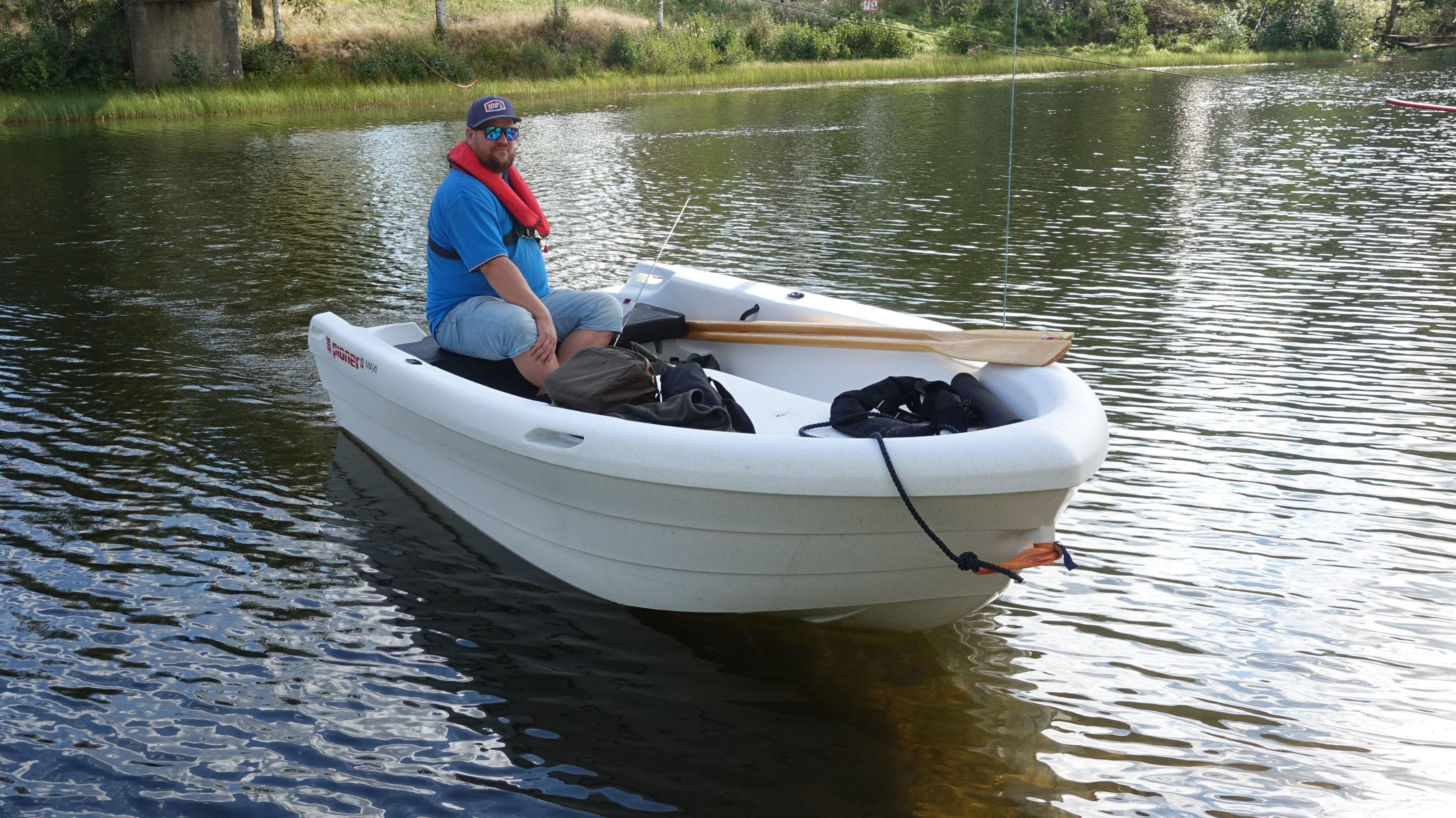 Vi tester elektrisk båt.