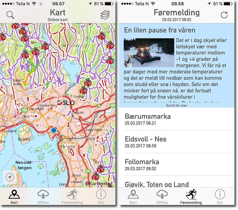 iMarka er den beste langrenns-appen – hvis du ikke bor for langt unna Oslo.