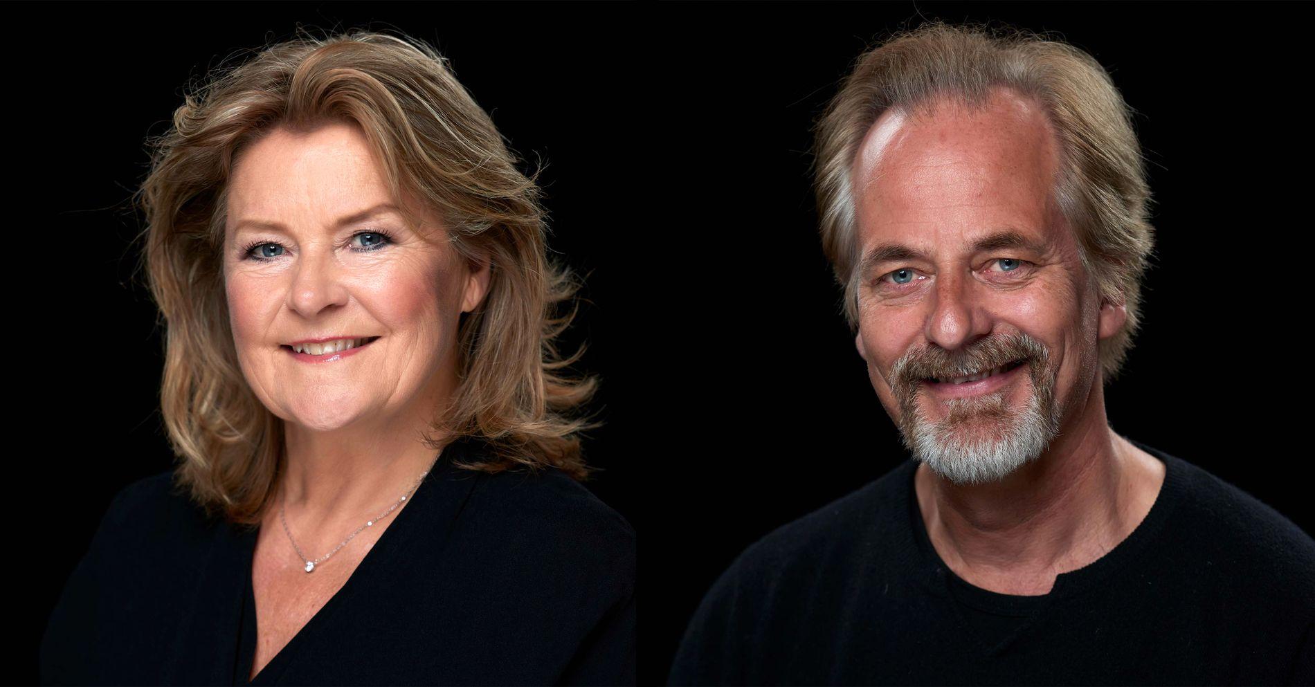 STJERNER: Elisabeth Andreassen spiller sjakkdommer og Øystein Røger KGB-agent.