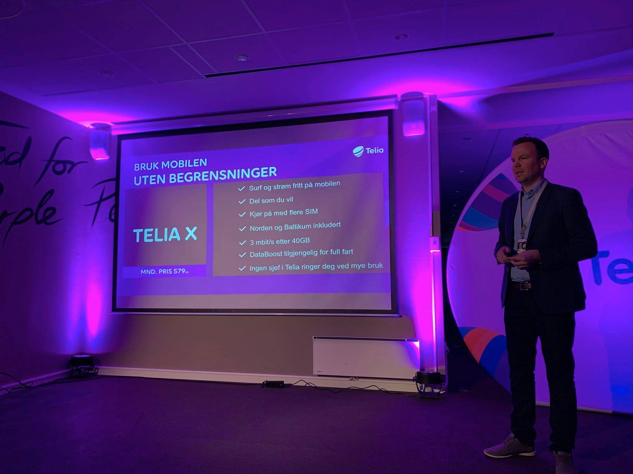 Håkon Lofthus er leder for Telia Privat, og sa under lanseringen av Telia X at kundene ikke vil trenge å begrense bruken, til tross for at nedlastingshastigheten senkes til 3 megabit per sekund.