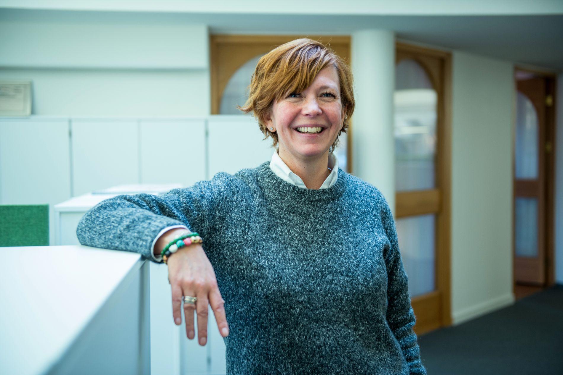 Else-Lill Grønli leder kundeserviceavdelingen i Landkreditt bank.
