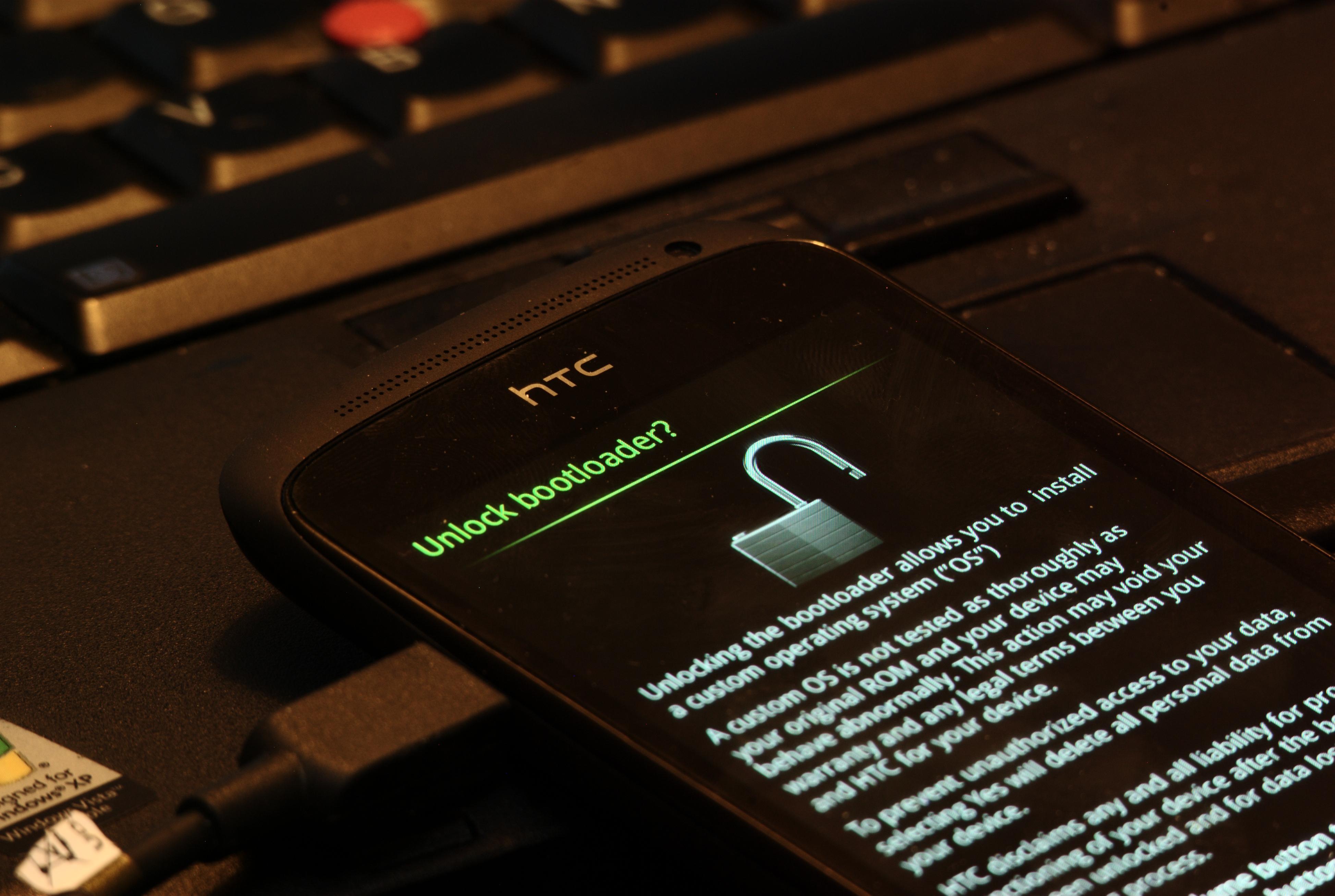 Det er enkelt å åpne bootloaderen i HTC One S.Foto: Einar Eriksen