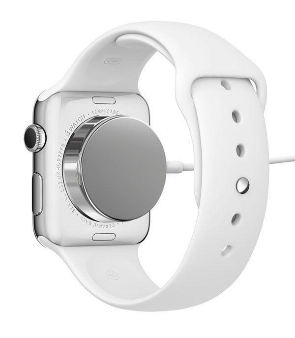 Slik lades Apple Watch. Foto: Apple