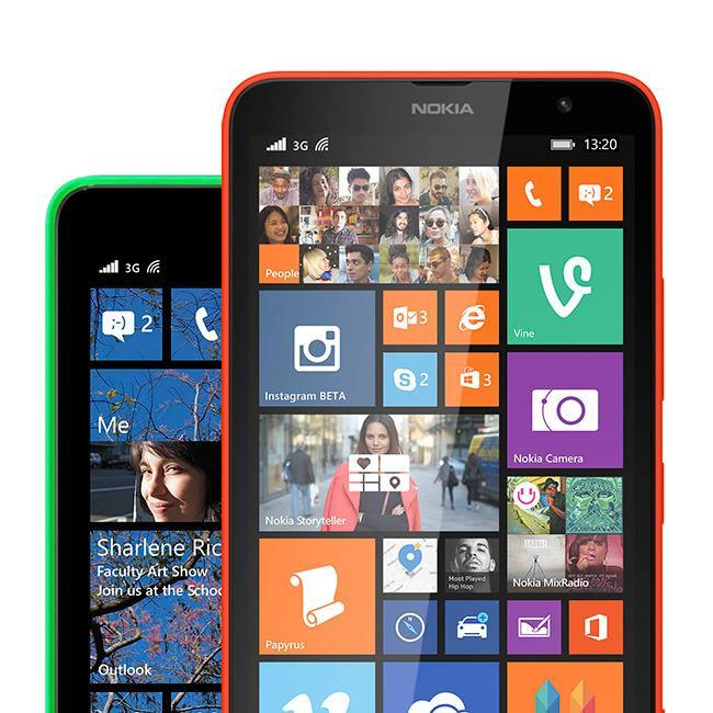 Slik ser startskjermen ut med Lumia Cyan installert.Foto: Nokia