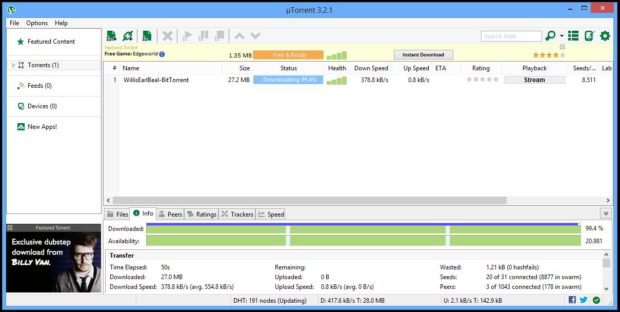 µTorrent er en av programmene til BitTorrent.Foto: BitTorrent Inc.