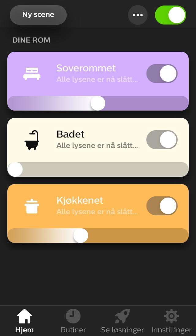 App til iOS for Philips Hue.