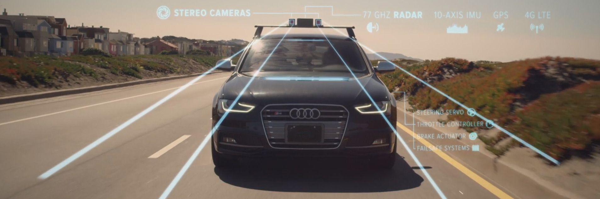 Kameraer, radar og ultrasonisk utstyr gjør at bilen kan «se» mer enn deg.Foto: Cruise