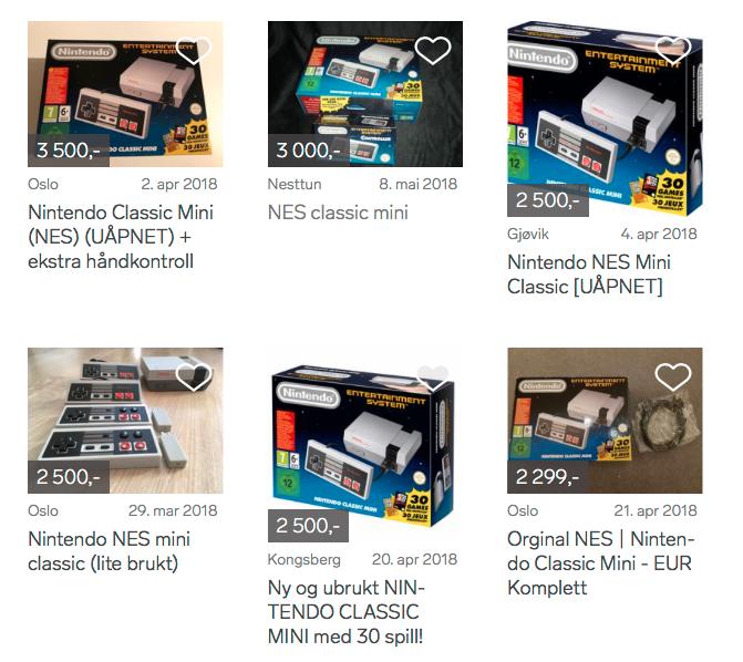 Sist gang NES Classic Mini var i salg endte mange opp på bruktmarkedene til skyhøye priser. Fortsatt er det flere som prøver seg.