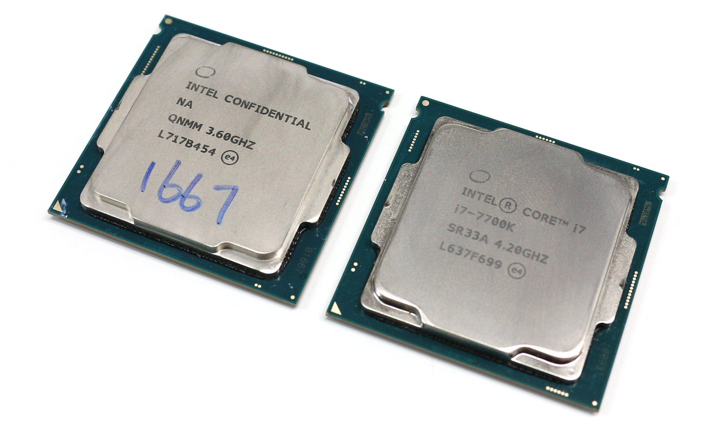 Core i5-8600K og Core i7-7700K.