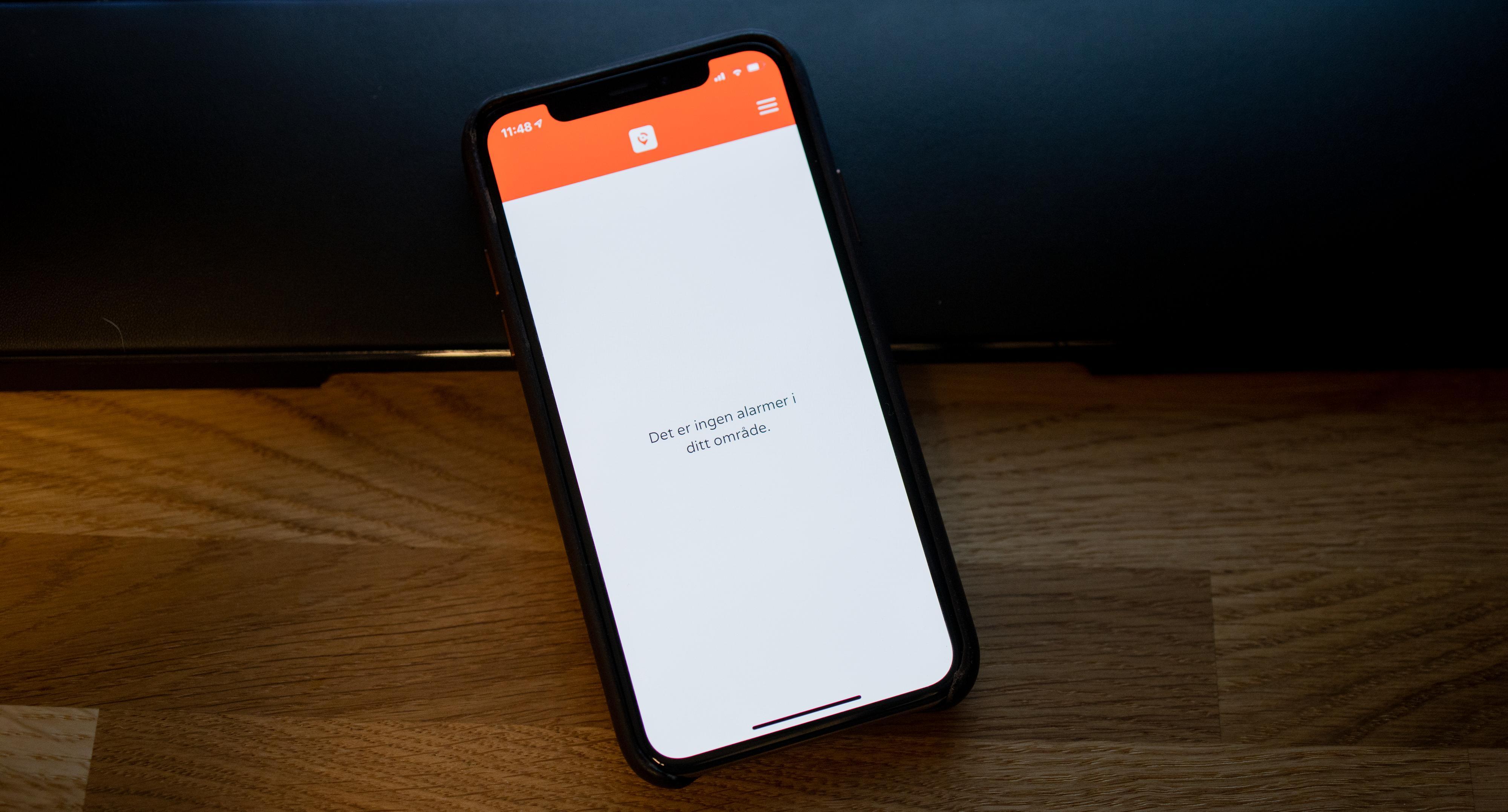 Appen har ikke så mye innhold bortsett fra varslingene som får mobilen til å vibrere og blinke.