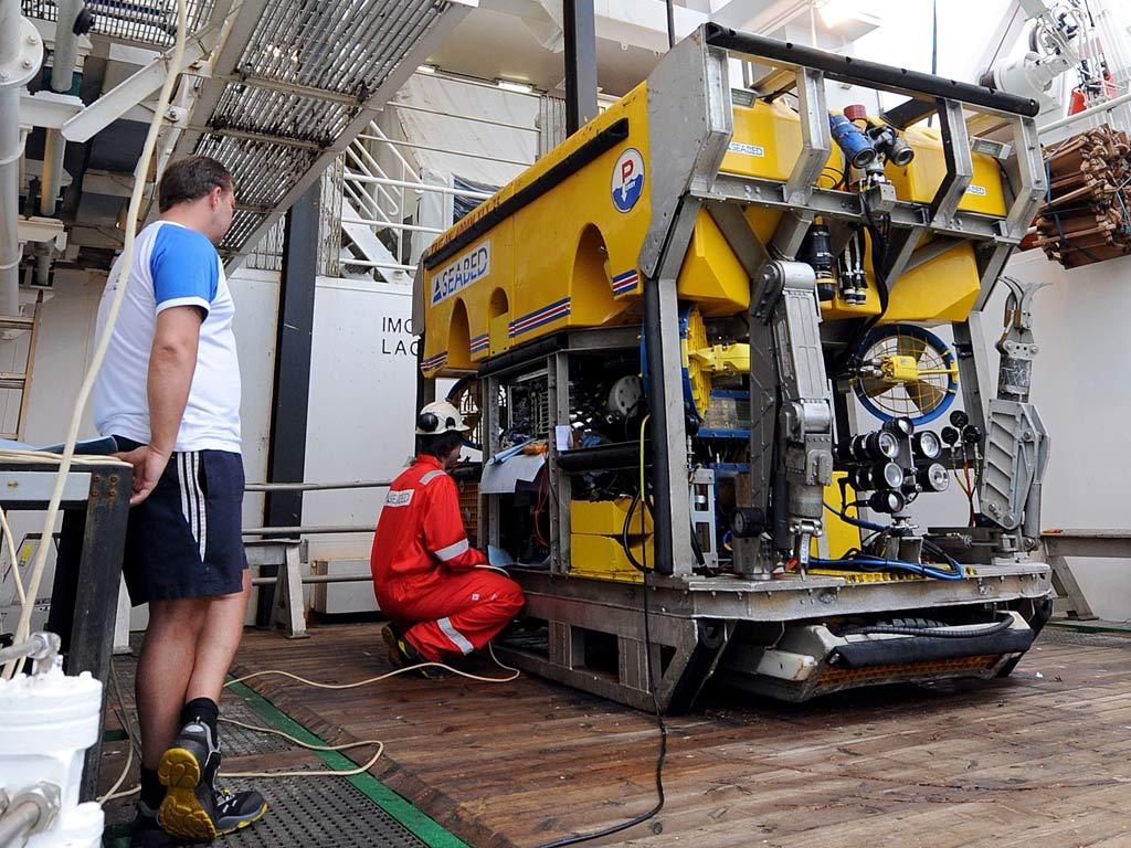 ARBEIDSVERKTØY: En ROV undersøkels om bord på det norske fartøyet Seabed Worker.Foto: Evaristo