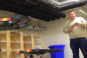 Her fra testen av Parrot AR Drone.