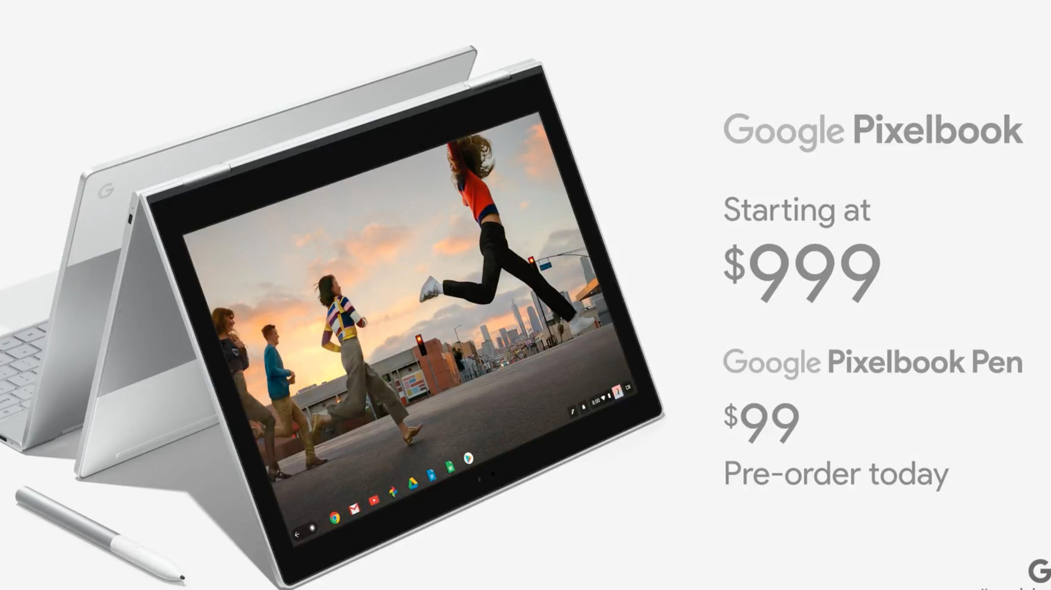 Her er Google Pixelbook, en litt uvanlig hybrid-PC