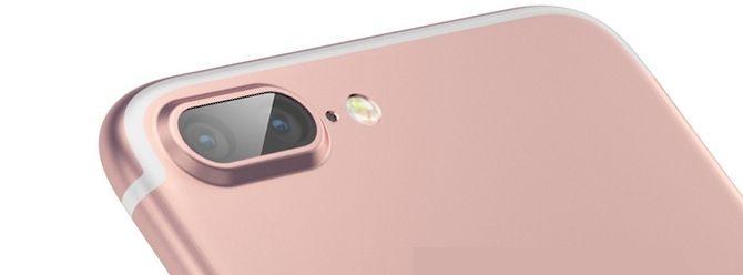 Dette konseptbildet viser hvordan de to kameraene kan se ut på et produktbilde fra Apple.