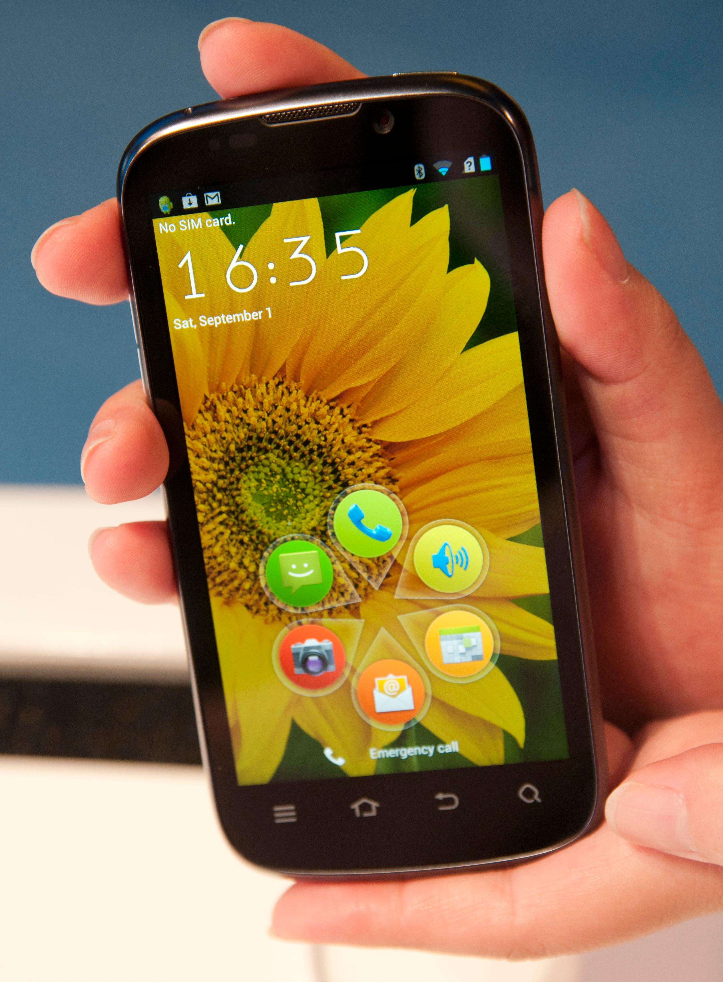 ZTE har ikke gjort store endringer i Android-menyene, men en ny låseskjerm har de fikset.