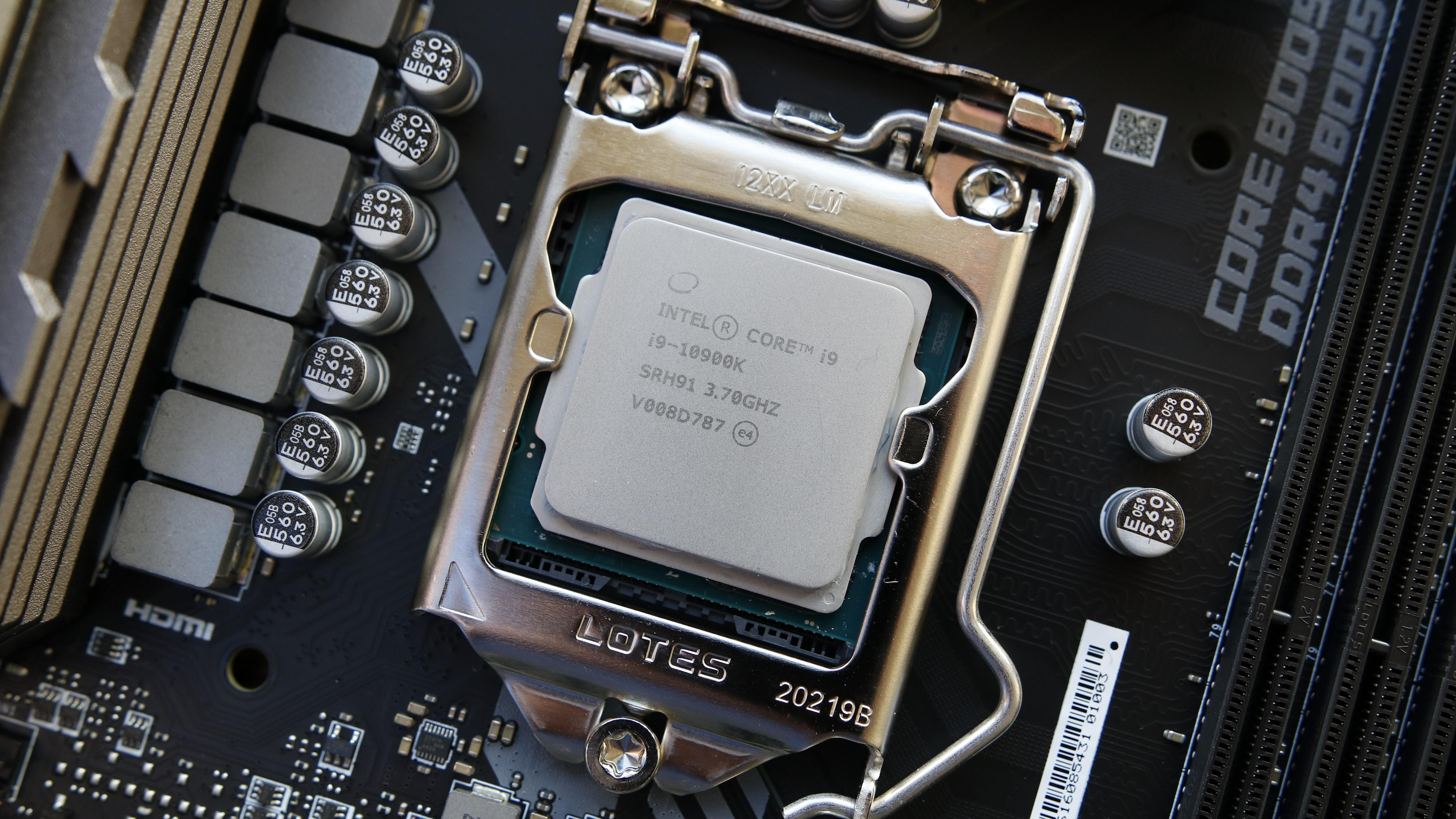 Intels Comet Lake-flaggskip: Core i9-10900K.
