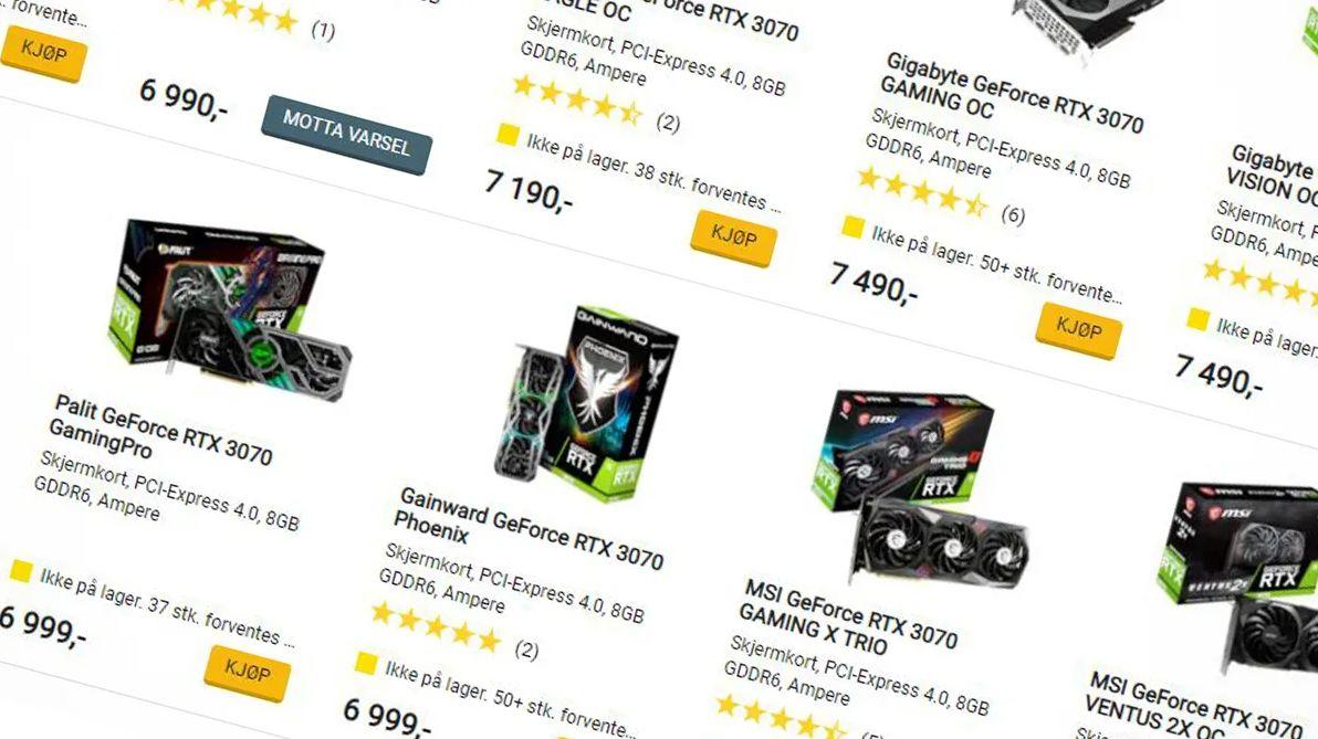 Prisene har vært høye og tilgjengeligheten vært mager i flere år på nye grafikkort.