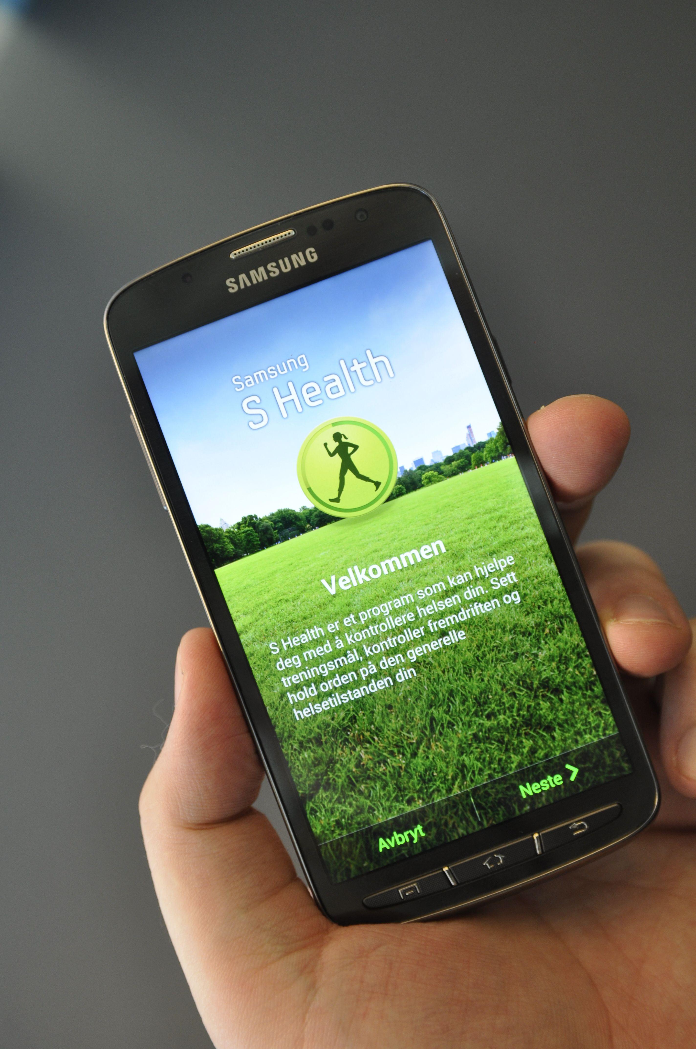 Trenings- og livsstils-appen S Health skal være under løpende utvikling, og vil sannsynligvis bygges ut med flere funksjoner over tid.Foto: Finn Jarle Kvalheim, Amobil.no
