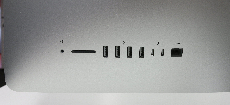 Nye iMac har Bluetooth 4.2 og 802.11ac trådløst nettverk. I tillegg kommer lydutgang, minnekortleser, fire USB 3.0-porter, to Thunderbolt 3-porter (USB Type-C) og gigabit LAN-port.