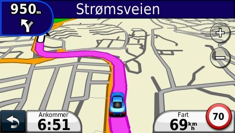 Nüvi 1340 vet fartsgrensen de fleste steder, men ikke så mye mer.
