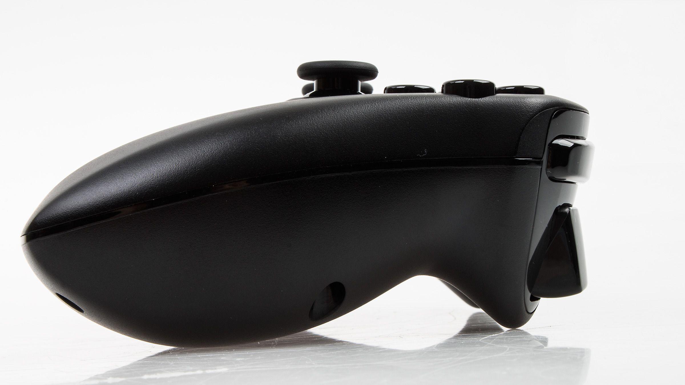 Slik ser Nvidia Shield Wireless Controller ut i profil.Foto: Varg Aamo, Hardware.no
