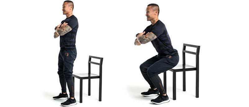 Träna med stol