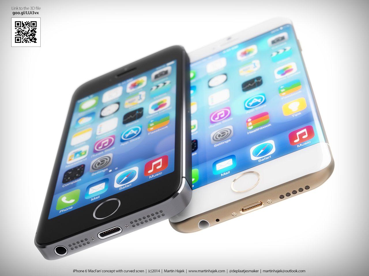Det har blitt vist frem mange ulike, og like, designforslag til hvordan neste epletelefon kan se ut. Dette er ett av dem ...Foto: www.martinhajek.com