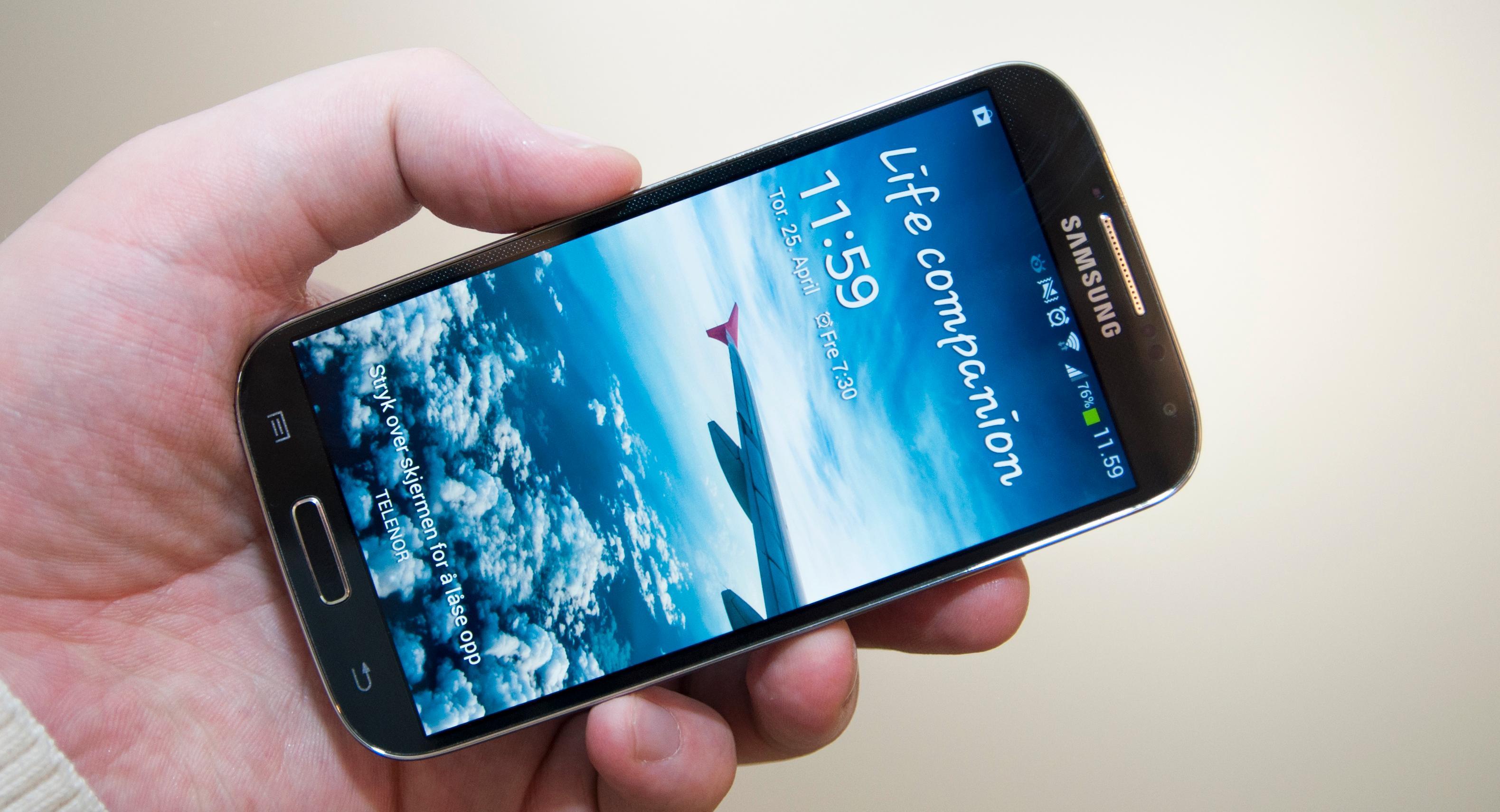 Samsung Galaxy S4.Foto: Finn Jarle Kvalheim, Mobilen.no