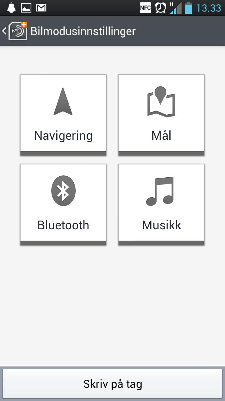 Ved hjelp av NFC-merker kan du få telefonen til å endre instillinger automatisk.
