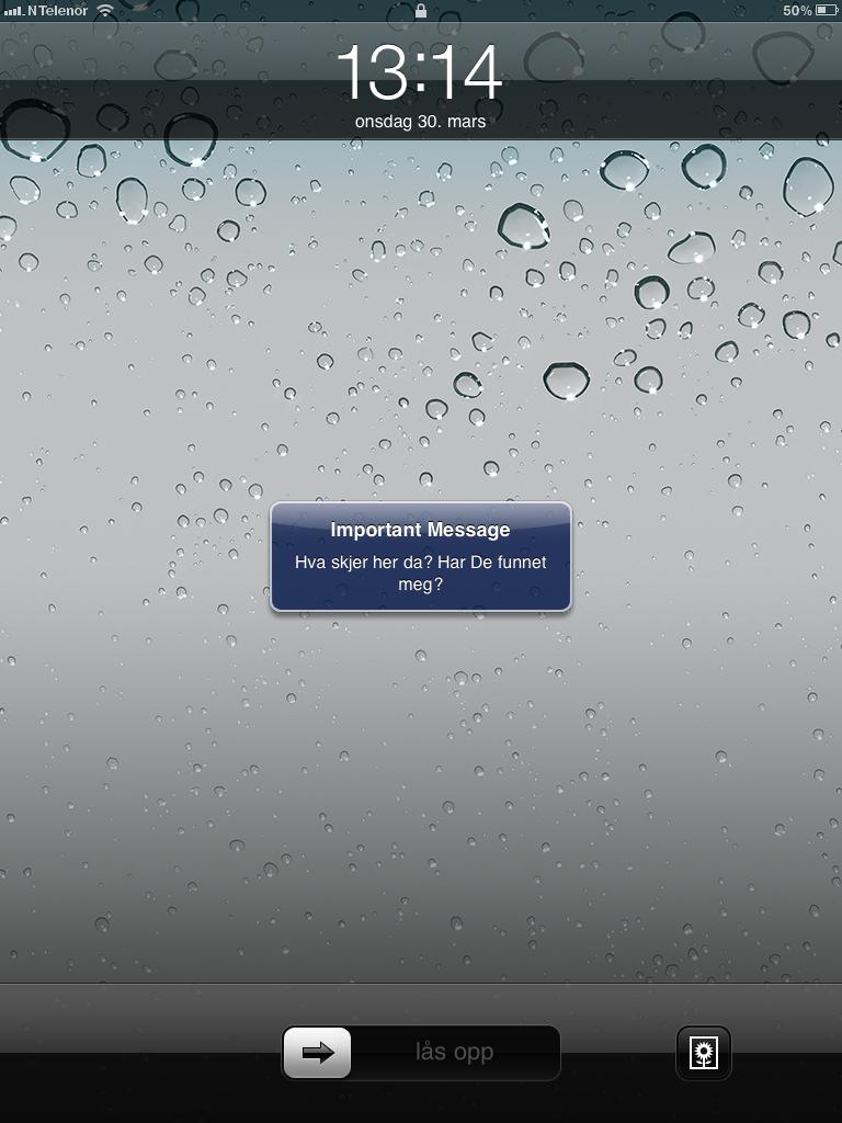 Ved hjelp av Mobile Me kan iPad 2 varsle med lyd og skjermlys hvor den er. Fjernsletting og låsing går også an.