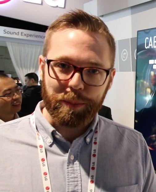 Erik Åhsgren, produktspesialist på TV og AV i LG.Foto: Jørgen Elton Nilsen, Hardware.no