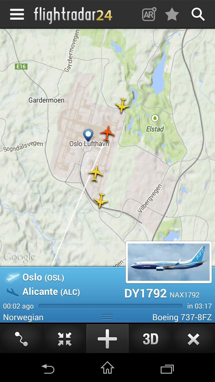 Drømmer du om å reise? Da kan det være artig å sjekke hvor flyene som flyr over hodet ditt har tenkt seg. Flightradar24 er en av appene som viser flytrafikken.
