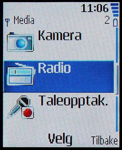 Her finner du radioen på enkelte Nokia-telefoner.