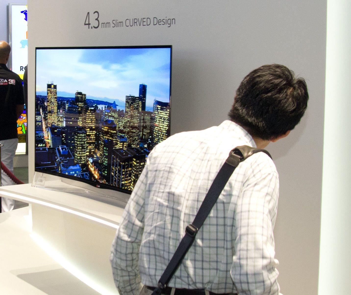 LG 65EC970V har både OLED-panel og 4K-oppløsning. Foto: Rolf B. Wegner, Tek.no