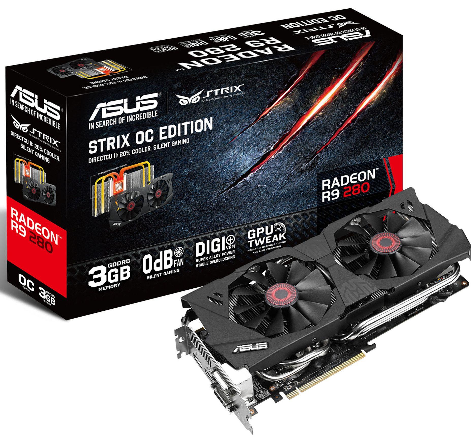 Asus Radeon R9 280 Strix.Foto: Asus