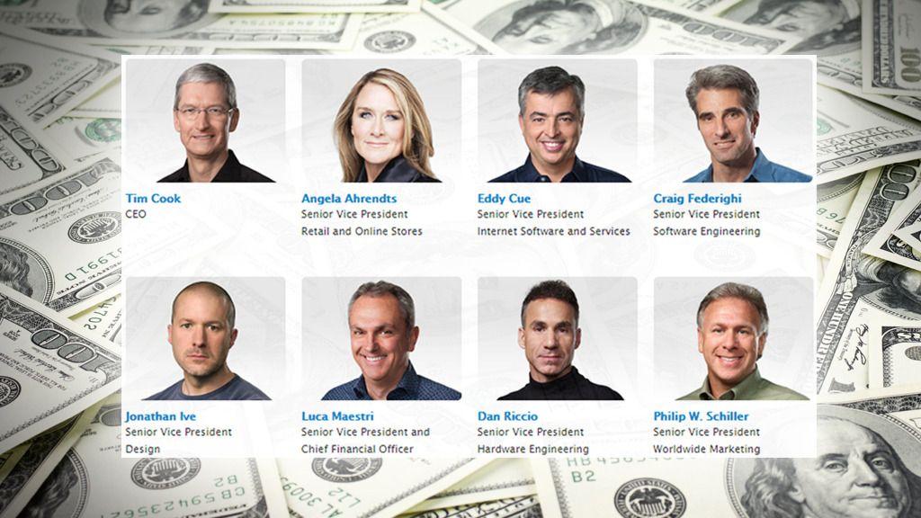 Apple-ledelsen drukner i penger