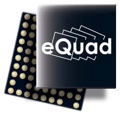 Prosessorarkitekturen eQuad som benyttes i NovaThor L8580 lar hver kjerne kjøre på opptil 2,5 GHz, eller på lavere hastighet med en spenning på bare 0,6 volt.Foto: ST-Ericsson