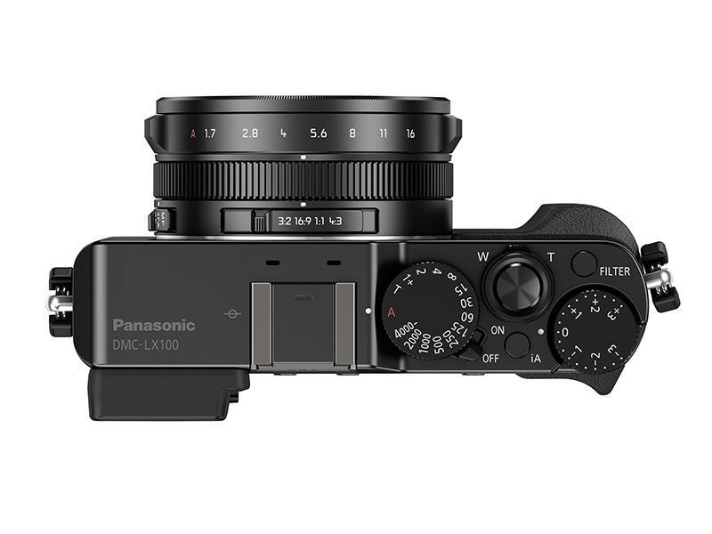 Lx100s topplate. Foto: Panasonic
