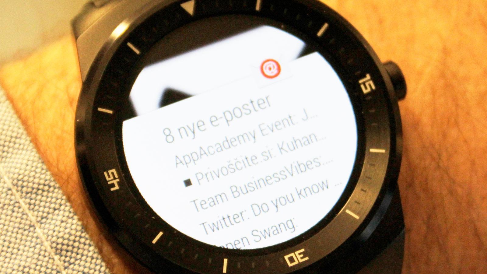 Slik ser e-post ut på G Watch R.Foto: Espen Irwing Swang, Tek.no
